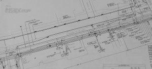 Closeup of design engineering blueprints