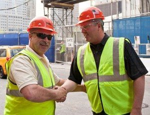 Danella Core Value - Respect - Photo of two employees embracing respectfully