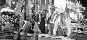 Men inspecting job site