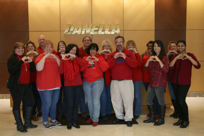 Wearing Red for National Wear Red Day in support of heart health awareness
