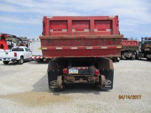Back of a 2007 Hi-Rail Rotary Dump Truck