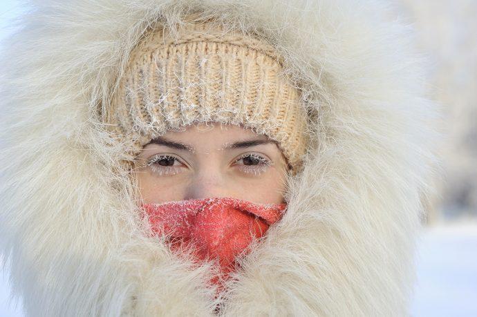 Cold Temperatures - Girl Bundled Up