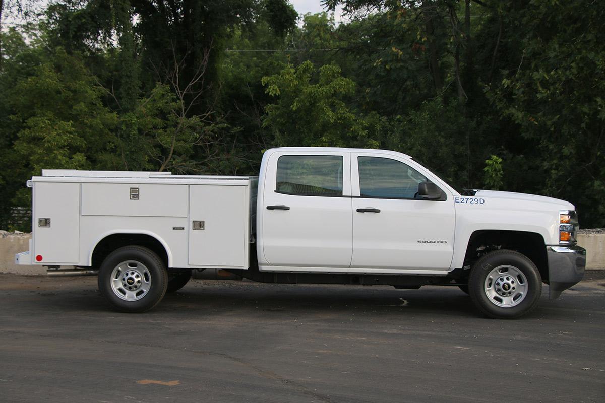 3 4 Ton Utility Truck Passenger Side Double Cab Utility Body