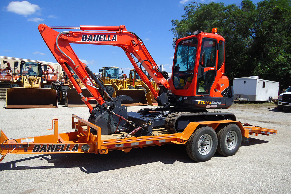 Equipment trailer Mini Excavator