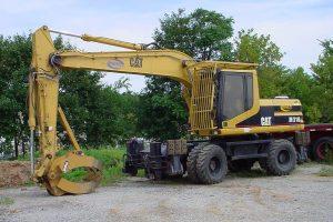 Excavator Driver Side CAT 318M Wheeled Hi Rail