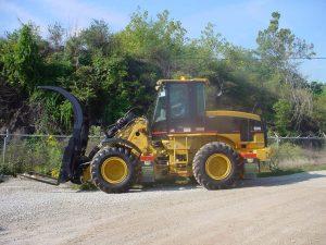 Front End Loader Driver Side CAT 924G Grapple Forks