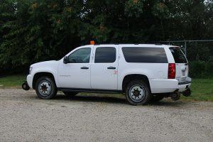 Full Size SUV Rear Drive Side H Rail Strobe