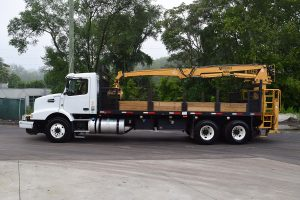 Hi Rail Material Handler Driver Side Builtrite Crane