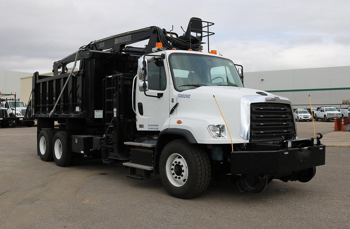 Hi Rail Rotary Dump Truck Passenger Side