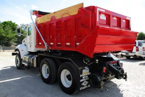 Hi Rail Rotary Dump Truck Rear Driver Side