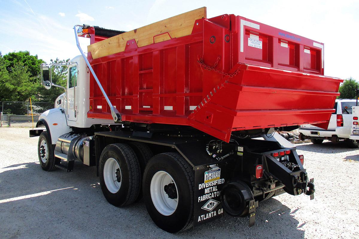 Hi Rail Rotary Dump Truck Rear Driver Side