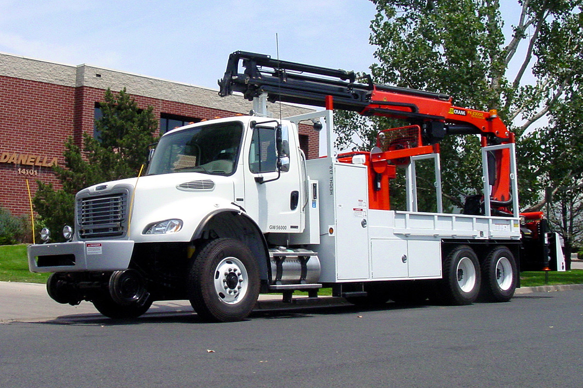 Knuckle Boom Truck Front Driver Side