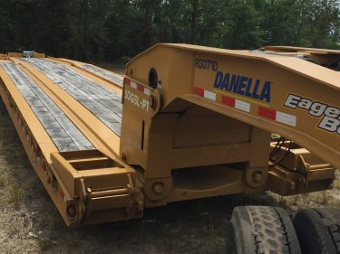 Lowboy Trailer Hi Rail Embedded Rails