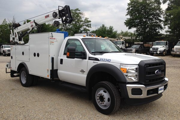 Mechanic Truck Front Singe Cab Utility Body Crane Air Compressor