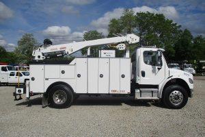 Mechanic Truck Passenger Side Singe Cab Utility Body Crane Air Compressor