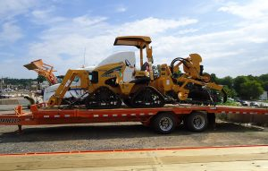 Trencher Driver Side On Trailer
