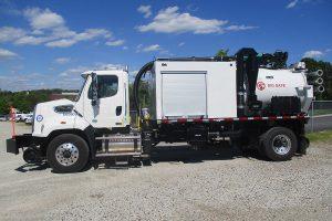 Vacuum Truck Driver Side Hi Rail