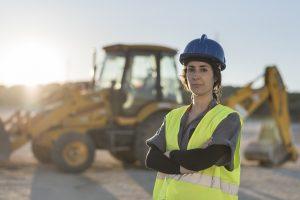 Backhoe Women in Construction