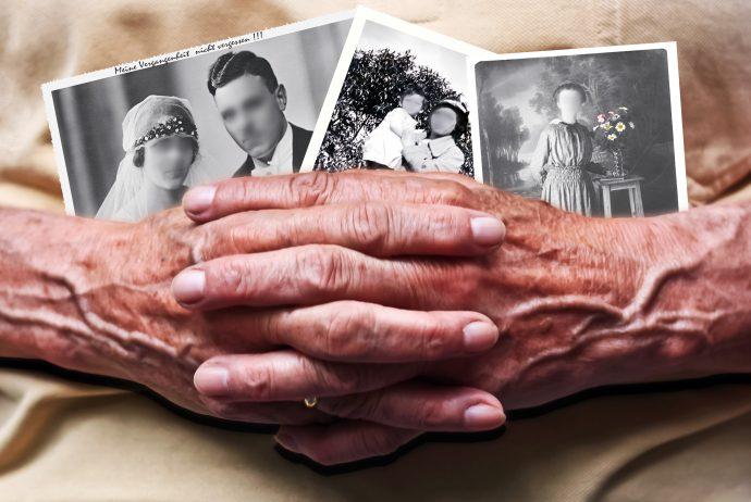 Alzheimer Awareness - Women with Blurred Photos
