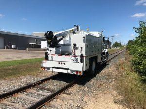 Hi-Rail Combination Welding Truck rear view